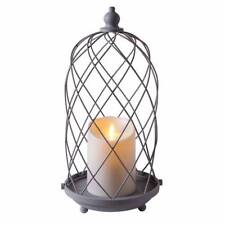 "15"" Luminara® Outdoor Bird Cage Lantern with 5"" White Unscented Pillar Candle"