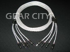 ckc16 2.5m 8ft Speaker Cable Silver 16 Multi-Core Wire Banana Spade Plug HiFi