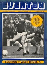 Everton v West Bromwich Albion programme, Division 1, May 1977