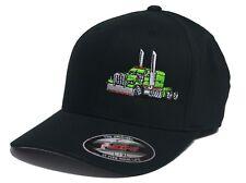 Diesel Truck Big Rig Tractor hat cap fitted flexfit curved bill Trucker