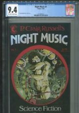 NIGHT MUSIC 1 P. CRAIG RUSSELL COVER STORY AND ART BEST & ONLY CGC NEAR MINT 9.4