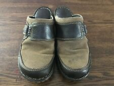 Born Clog Mule Slip On Flat Two Tone Brown Women's 9 / 40.5 Shoes Comfort W22042