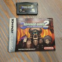 Advance Wars 2: Black Hole Rising (Game Boy Advance GBA, 2003) Authentic, Manual