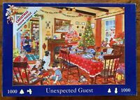 House of Puzzles Unexpected Guest Christmas 1000 Piece Jigsaw PuzzleCOMPLETE
