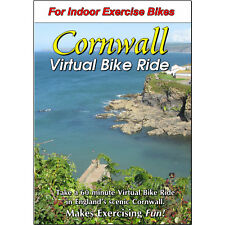CORNWALL, ENGLAND CYCLING SCENERY DVD - VIRTUAL BIKE RIDE - EXERCISE & FITNESS
