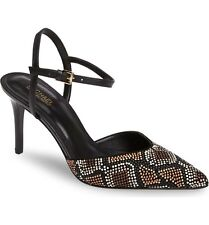 Michael Kors Slingback Court Shoes Size 7 EU 40 Black Beaded Pumps