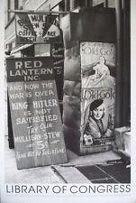 Libreria del Congresso, restuarant segno-John Vachon 1938, 61x91cm. WAR POSTER
