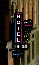 HOTEL-MOTEL SERIES ANIMATED NEON  SIGN O-SCALE LIGHTS BLINKS-LEFT VERSION