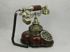 * High Grade European Style Alloy + Resin Antique Ancient Dial Telephone