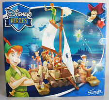 VERY RARE 2005 DISNEY HEROES PETER PAN WOODEN RAFT FAMOSA SPAIN BRAND NEW MISB !
