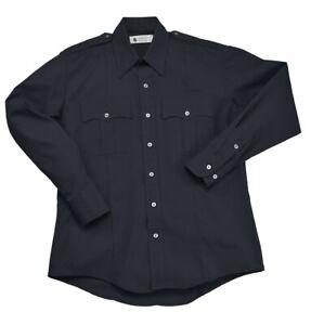Liberty Navy Blue Police EMT Short Sleeve Shirt Size XL 17-17.5/32-33 Polyester