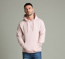 Mens Nicce Logo Overhead Hooded Top Pink Medium CS171 FF 14