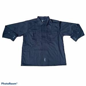 5.11 Tactical Men Size Large Dark Navy Taclite TDU Long Sleeve LS Ripstop Shirt