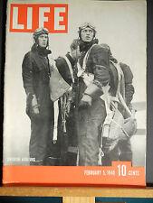 Life Magazine WWII  Feb. 1940 British Seize US Mail, German Bomber, Lenin,