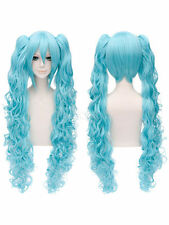 Vocaloid Hatsune Miku Cosplay Party Wig Light Blue Curly Hair