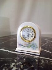 Vtg Porcelain Mini Clock By Aynsley Made In England.        AF1
