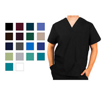 Adar Men's Short Sleeve Medical Nursing Workwear 1 Pocket V-Neck Scrub Top