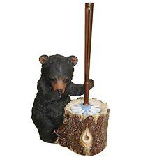 Stinky Bear Resin Toilet Brush and Holder - Rustic Lodge Decor