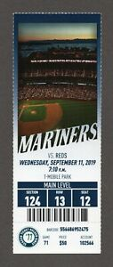 Kyle Lewis HR #2 Seattle Mariners Reds 9/11/2019 Full Ticket RARE 1977 STH