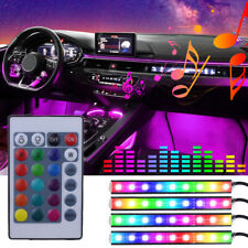 Car RGB 36SMD-5050 LED Lights Strip Interior Atmosphere Neon Lamp Remote Control