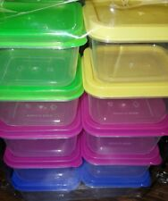 Mix colors 10 Square Small Mini Storage Containers with Lid Food, Craft, Beads