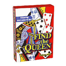 FIND THE QUEEN 4 Cards Magic Trick Beginner Close Up Gimmick Gag Magician Vanish
