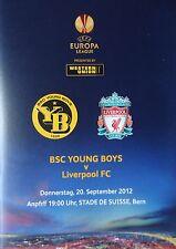 Programme UEL 2012/13 Young Boys Bern vs Liverpool FC