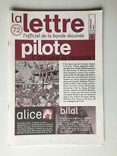 LA LETTRE DE DARGAUD 72  PILOTE BILAL RAPACES ALICE FRED ROSY ALICE / 2003 / BD