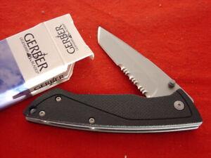 "Gerber Knives 4-3/8"" Linerlock CARTER I Tanto G10 Lock Blade Knife MINT IN BOX"