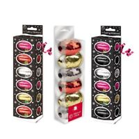 6 x Rolls Curling Ribbon Pink Red Gold Silver Black Wrapping Christmas presents