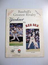 4-1/2-1994 NY YANKEES  BOSTON BASEBALL PROGRAM WOULD HAVE BEEN DEREK JETER DEBUT