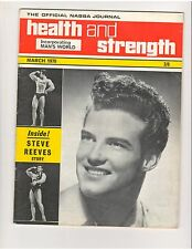 Health and Strength Bodybuilding Muscle Magazine/Steve Reeves Story 3-70 G.B.
