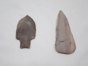 Authentic Texas Knife/Scraper & Arrowhead Indian Artifacts