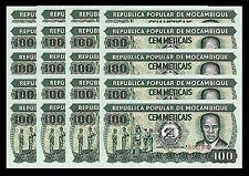 MOZAMBIQUE 100 METICAIS* 1980 * UNC 20 PCS CONSECUTIVE LOT P.126a
