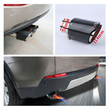 """IN 3"""" 76MM OUT: 4.5""""114MM Exhaust Tip Muffler Pipe Carbon Fiber Steel Glossy"""