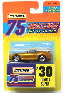 MATCHBOX SUPERFAST GOLD CHALLENGE #30 TOYOTA SUPRA LIMITED EDITION 1/10,000 #D21