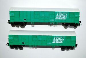 JOUEF (Champagnole) - 2 wagons G 13 couverts FRET-SNCF à bogies réf. 6533