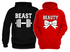 Beauty and Beast Couple Matching Hoodies. Valentine's His&Hers vacation Pullover