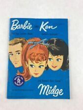 Vintage 1962 Barbie Ken Fashion Booklet Teen-Age Model Newsletters Mattel