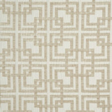 Maxwell Interlocking Squares Upholstery Fabric Grand Central Vanilla 2.20 yd