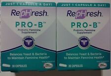 Lot of 2 - Rephresh Pro-B Feminine Probiotic -30 Capsules each box - $H¡P§ FR€€!