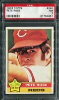 1976 Topps #240 Pete Rose PSA 7 NM