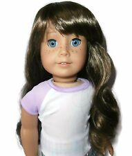 "Custom Girl Doll Wig 10-11"" Brown American Seller - Fits Molly Truly Me JLY"