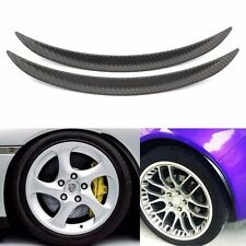 Carbon Fibre Style Fender Flares Universal Arch Wheel Eyebrows Protect Ant-Scrat