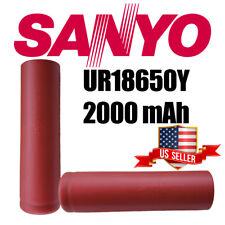 NEW Sanyo Y Battery, 2000mAh, 8A, 3.7V, Grade A Lithium-ion (UR18650Y)