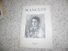 1943.Catalogue exposition Manguin..
