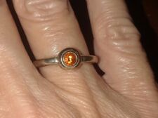 JAMES AVERY Sterling Silver 925 Remembrance ORANGE CITRINE Band Ring Sz 5.75
