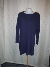 Long Sleeve Boat Neck Active Dress size SM Old Navy Dark Blue Sea 93% cotton NWT