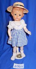 Vintage 50s Effanbee Vinyl Hard Plastic Mystery Girl Doll Orig Dress DM14