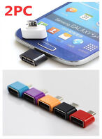 Micro USB OTG Adapter Converter For Android Tablet PC to Flash Mouse Keyboard 2×